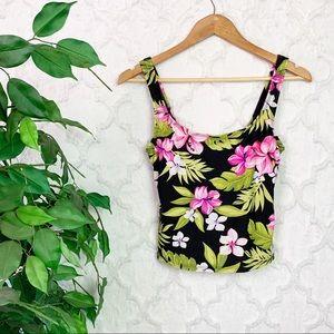 Vintage Catalina Tropical Floral Tankini Swim Top